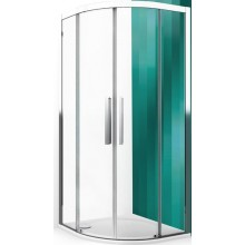 ROLTECHNIK EXCLUSIVE LINE ECR2N/900 sprchový kout 900x2050mm čtvrtkruhový, s dvoudílnými posuvnými dveřmi, rámový, brillant/transparent