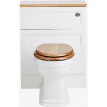 HERITAGE CLAVERTON WC mísa 367x527mm, pro nástěnnou skříňku, vodorovný odpad, bílá