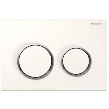 GEBERIT OMEGA 20 ovládací tlačítko 21,2x14,2cm, bílá/chrom lesk 115.085.KJ.1