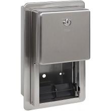 SANELA SLZN 26Z zásobník, na dvě toaletní role, nerez