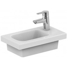 Umývátko nábytkové Ideal Standard s otvorem Connect Space s odkládací plochou vpravo 45x25x13 cm bílá