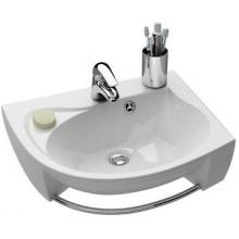 RAVAK ROSA umyvadlo 566x466x150mm pravé, s otvorem a přepadem, bílá/litý mramor