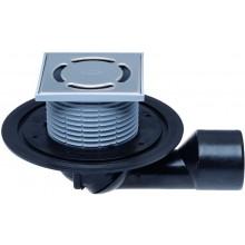 HL vpust DN 50/75 podlahová, s kloubem, s pevnou izolační přírubou, polypropylen/polyetylen/nerez