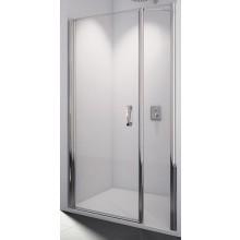 SANSWISS SWING LINE SL31 sprchové dveře 1000x1950mm jednokřídlé, s pantem u zdi a s pevnou stěnou v rovině, matný elox/sklo Durlux