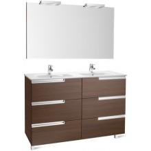 ROCA PACK VICTORIA-N FAMILY nábytková sestava 1190x460x740mm skříňka s umyvadlem a zrcadlem s osvětlením dub 7855845155