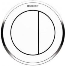 GEBERIT TYP 01 oddálené ovládání 8,5x8,5x9cm, pneumatické, na omítku, alpská bílá