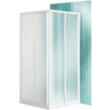 ROLTECHNIK CLASSIC LINE CS2/800 sprchový kout 800x1850mm čtvercový, s dvoudílnými posuvnými dveřmi, bílá/bark