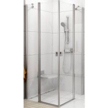 RAVAK CHROME CRV2 100 sprchový kout 980-1000x1950mm rohový satin/transparent 1QVA0U00Z1