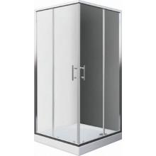 EASY ELS2 800 B sprchový kout 800x1900mm čtvercový, s dvoudílnými posuvnými dveřmi, bílá/transparent