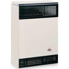 KARMA BETA 2 ELECTRONIC 01 plynové topidlo 2kW závěsné, spínací hodiny, odtah přes zeď, slonová kost