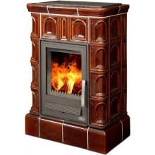 ABX BRITANIA K kachlová kamna 5,2-12,4kW s teplovodním výměníkem, hnědá