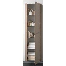 Nábytek skříňka Duravit 2nd floor s osvětlením 50x180x36 cm dub antracitový