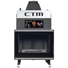 CTM AQUAFIRE GLASS 22 krbová vložka 21,7kW s výměníkem černá