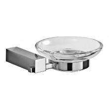 JIKA CUBITO držák se skleněnou mýdlenkou 135x123mm, chrom/transparentní sklo
