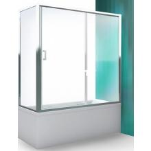 ROLTECHNIK LLV2 vanová zástěna 1600x1500mm, s posuvnými dveřmi, univerzální, brillant/transparent