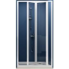 Zástěna sprchová dveře Ravak plast SDZ3-90 zlamovací 90 bílá/pearl