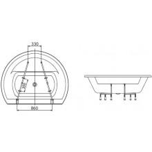 KOLO FURORA rám ke kruhové vaně SWL0465