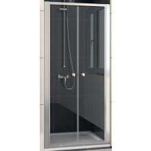 SANSWISS ECO LINE ECP2 sprchové dveře 700x1900mm dvoukřídlé, matný elox/čiré sklo