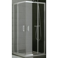 SANSWISS TOP LINE TED2 D sprchové dveře 900x1900mm, pravé, dvoukřídlé, rohový vstup, aluchrom/sklo Cristal perly