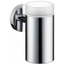 HANSGROHE LOGIS sklenička na ústní hygienu 126mm, chrom/sklo 40518000