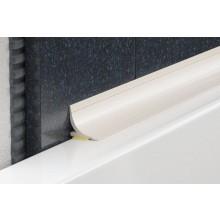 PROFIL-EU rohový profil 15x15mm, 2,5m, vnitřní, dodatečný, s lepící páskou, PVC, bílá