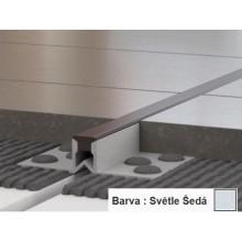 PROFIL-EU profil 10mm, 2,5m, dilatační, PVC, světle šedá
