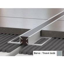 PROFIL-EU profil 10x12mm, 2,5m, dilatační s PVC vložkou, přírodní elox, tmavě šedá