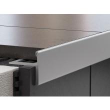 PROFIL-EU profil 8x12,5mm, 2,5m, schodový, oboustranný, nerez kartáčovaná