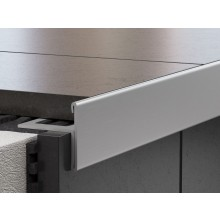PROFIL-EU profil 10x11mm, 2,5m, schodový, oboustranný, nerez kartáčovaná
