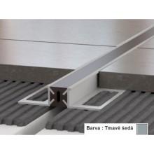 PROFIL-EU profil 12x15mm, 2,5m, dilatační s PVC vložkou, přírodní elox, tmavě šedá