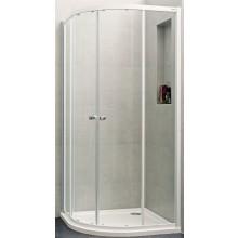 Zástěna sprchová čtvrtkruh - sklo Concept 100 NEW 800x800x1900/R500 mm bílá/čiré AP