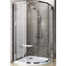 Zástěna sprchová čtvrtkruh Ravak sklo Pivot PSKK3 800x1900/R500 bílá/transparent