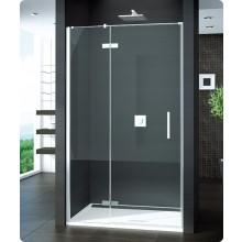 Zástěna sprchová dveře Ronal sklo Pur PU13PD 120 10 07 pravé jednokřídlé 1200x2000mm chrom/čiré sklo/Aquaperle