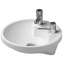 Umývátko klasické Duravit s otvorem Architec arm. zdola zás. na mýdlo vpravo bez přetoku kulaté 43 cm bílá