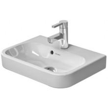Umývátko nábytkové Duravit s otvorem Happy D2 s přetokem, s plochou pro armaturu, 500x360 mm bílá