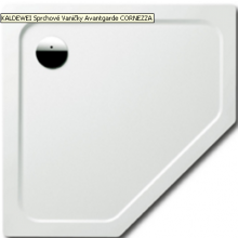 KALDEWEI CORNEZZA 672-1 sprchová vanička 1000x1000x25mm, ocelová, pětiúhelníková, bílá, Perl Effekt, Antislip 459230003001