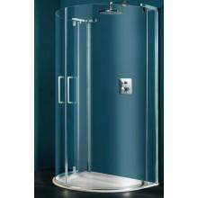 Zástěna sprchová půlkruh Huppe sklo Refresh pure 1140x900x1943mm bílá/čiré