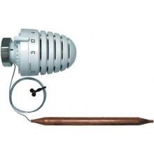 HERZ H termostatická hlavice M30x1,5, kapilára 500mm, s příložným čidlem, bílá