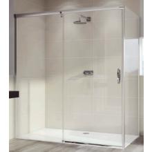 HÜPPE AURA ELEGANCE SW 800 boční stěna 800x1900mm pro posuvné dveře 1-dílné s pevným segmentem, 4-úhelník, bílá/sklo čirá Anti-Plague