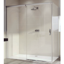 Zástěna sprchová boční Huppe sklo Aura elegance 800x1900mm bílá/čiré AP