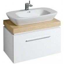 KERAMAG SILK skříňka pod umyvadlo 80x40cm s umyvadlovou deskou, bílá lesklá 816082000