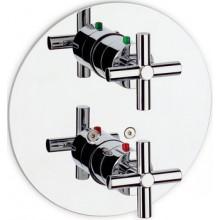 Baterie vanová Roca podomítková termostatická Loft s přepínačem  chrom