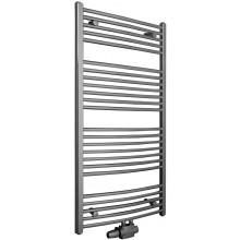 KORADO KORALUX RONDO EXCLUSIVE - M koupelnový radiátor 900/600, spodní středové připojení, chrom