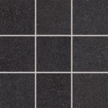 RAKO UNISTONE mozaika 10x10cm, lepená na síťce, černá