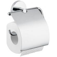HANSGROHE LOGIS držák na toaletní papír 106mm, s krytem, chrom 40523000