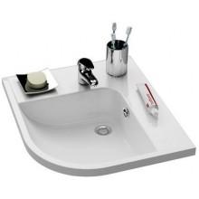RAVAK BE HAPPY umyvadlo 570x500x185mm, pravé, s otvorem a přepadem, bílá/litý mramor