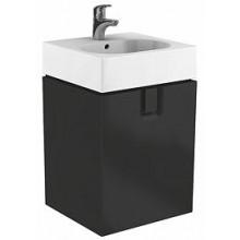KOLO TWINS skříňka pod umyvadlo 60x57cm s dvířky, závěsná, černá matná