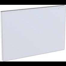 GEBERIT SIGMA krycí deska 24,6x16,4cm pro splachovací nádržky pod omítku, sklo bílé 115.766.SI.1