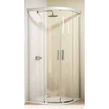 Zástěna sprchová čtvrtkruh Huppe sklo Design elegance 900x900x1900mm stříbrná matná/Intima AP