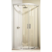 HÜPPE DESIGN ELEGANCE 900/900 posuvné dveře 900x900x1900mm stříbrná matná/privatima anti-plague 8E3002.087.375